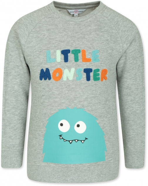 Mountain Warehouse Little Monster Kids - Grey Sweatshirt