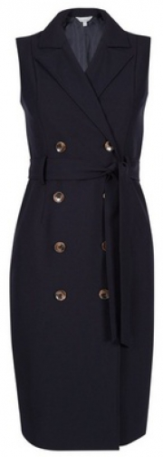Dorothy Perkins Petite Navy Trench Dress