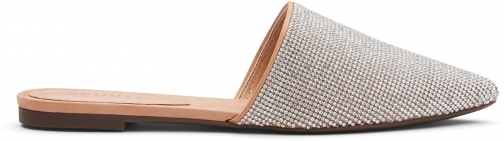 Schutz Shoes Felicie Leather Mule - 6 Honey Beige Leather & Crystal Shoes