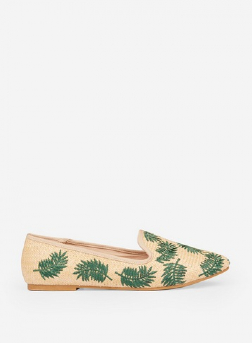Dorothy Perkins Multi Coloured Palm Print 'Pammy' Loafer