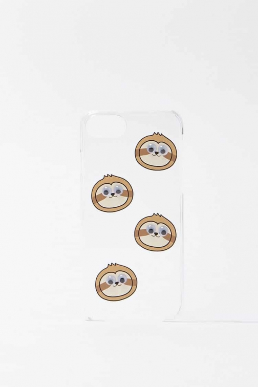 Forever21 Forever 21 Sloth For IPhone 6/7/8 , Brown/multi Case