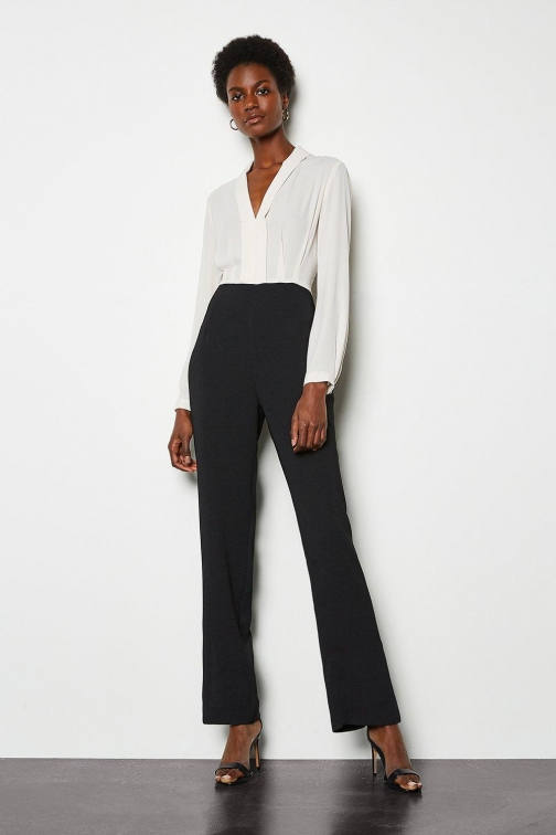 Karen Millen Tuxedo Tailored Black, Black Jumpsuit
