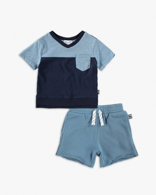 Splendid Baby Boy Color Block Pocket Tee Set T-Shirt