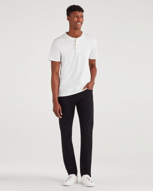 7 For All Mankind Men's Luxe Performance Ryley With Clean Pocket Annex Black Trouser