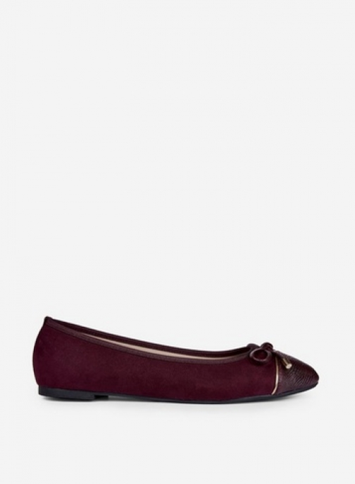 Dorothy Perkins Wide Fit Burgundy 'Pisa' Pumps