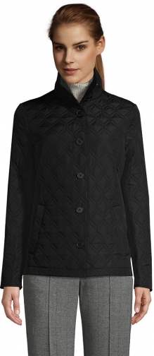 Lands' End Women's Insulated Packable Quilted Barn - Lands' End - Black - XS Jacket