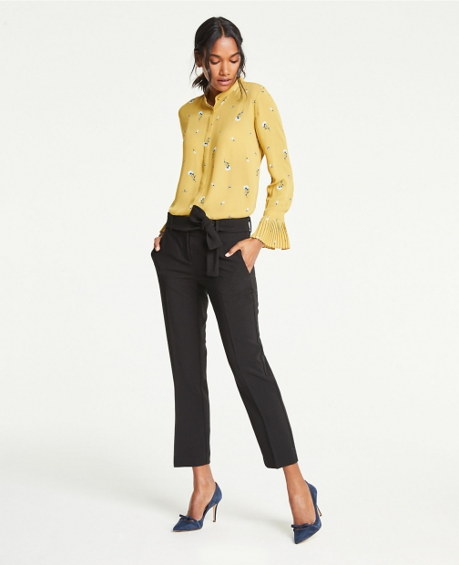 Ann Taylor The Tall Ankle Pant With Waist Tie