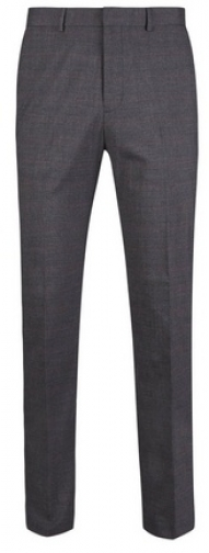 Dorothy Perkins Womens **Burton Grey Prince Of Wales Check Slim Fit Stretch Trousers- Grey, Grey Trouser