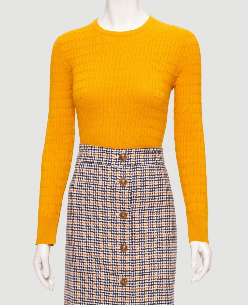 Ann Taylor Factory Cable Textured Sweater Sweatshirt