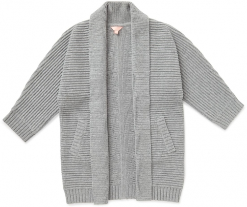 Jigsaw Girls Longline Ribbed Cardigan