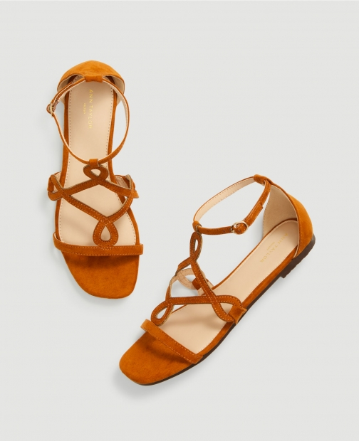Ann Taylor Factory Ornate Ankle Strap Sandals
