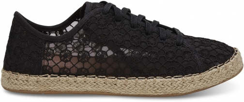 Toms TOMS Black Mosaic Mesh Women's Lena Espadrille Sneakers Shoes - Size UK5.5 / US7.5 Espadrille
