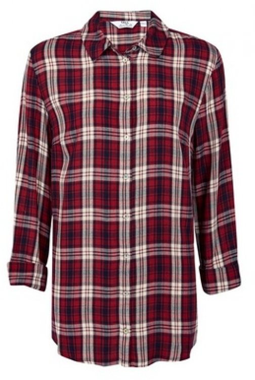 Dorothy Perkins Tall Red Check Print Shirt
