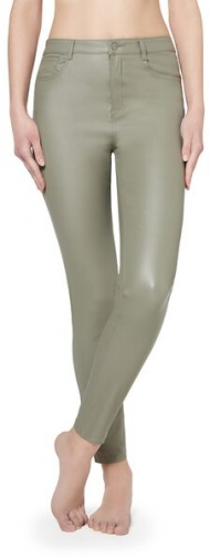 Calzedonia Faux Leather Skinny Woman Green Size L Legging