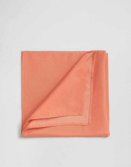 Asos Coral Pocket Square