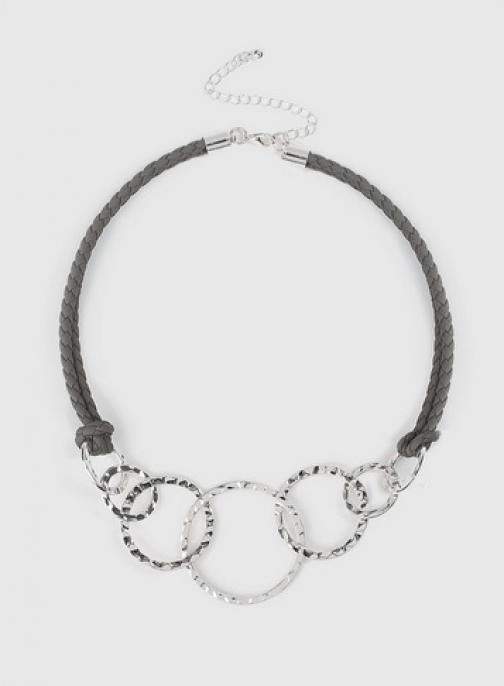 Dorothy Perkins Grey Link Colour Necklace