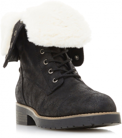 Head Over Heels Rippley Fur-Lined Lace-Up Hiking Boot