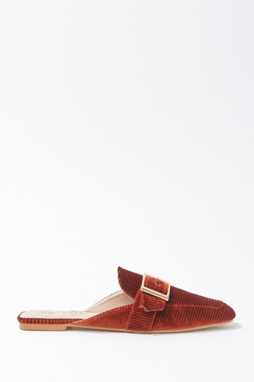 Forever21 Forever 21 Corduroy Slip-On Loafers , Rust Shoes