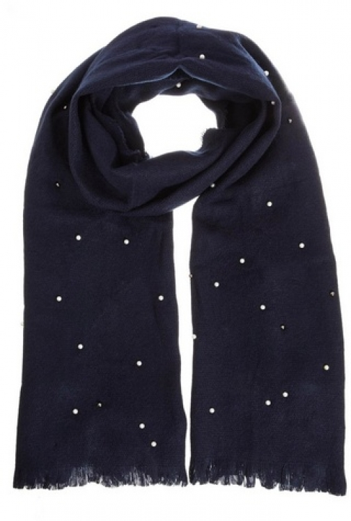 Dorothy Perkins Womens *Quiz Navy Pearl Kit - Blue, Blue Scarf
