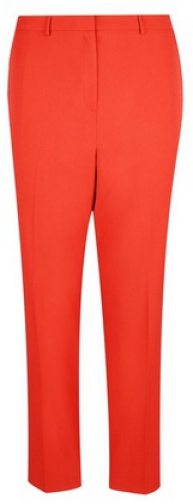 Dorothy Perkins Dp Curve Red Elastic Back Ankle Grazer Trousers Trouser
