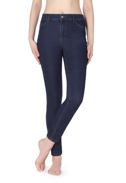 Calzedonia - Push-up And Soft Touch , L, Blue, Women Jeans
