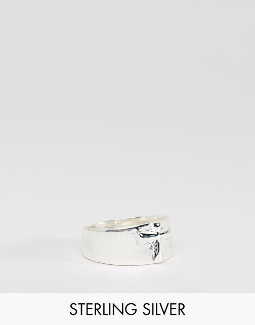 Asos Sterling Silver With Cross Ring
