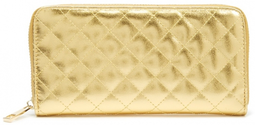 Forever21 Forever 21 Quilted Metallic Faux Leather , Gold Wallet