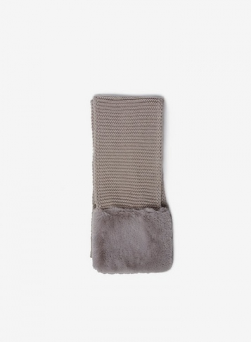 Dorothy Perkins Grey Faux Fur End Scarf