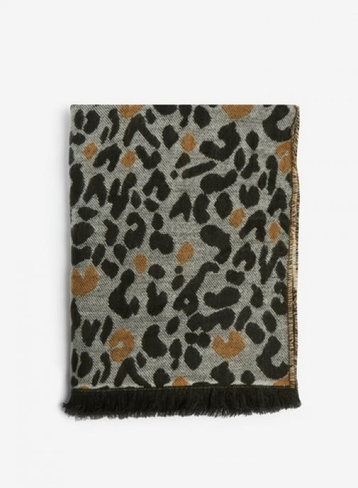 Dorothy Perkins Womens Double Sided Leopard Print - White, White Scarf