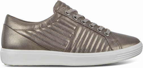 Ecco Soft 7 Sneakers Size 4/4.5 Metallic Droid Trainer