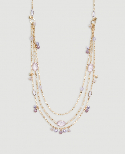 Ann Taylor Factory Floral Layering Necklace