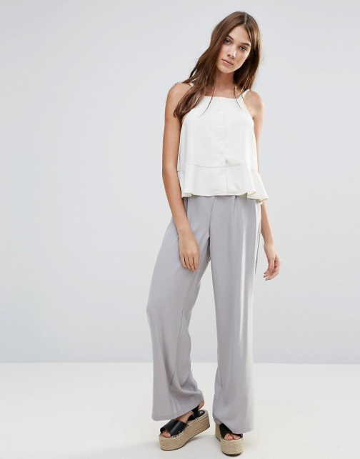 Neon Rose Wide Leg Trouser