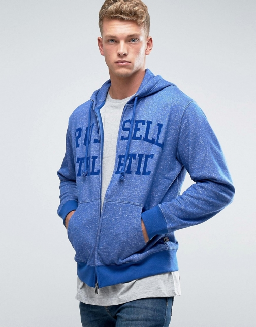 Russell Athletic Logo Zip Thru Hoodie