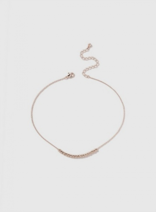 Dorothy Perkins Womens Mini Cube Choker - Rose Gold, Rose Gold Necklace