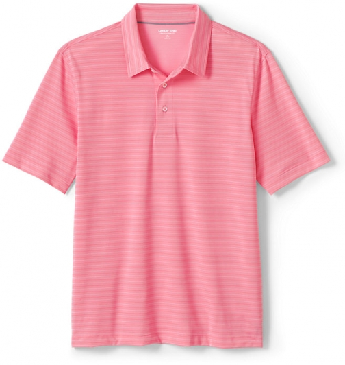 Lands' End Men's Short Sleeve Texture Comfort-First Golf - Lands' End - Red - S Polo