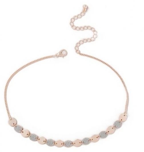 Dorothy Perkins Womens Glitter Disc Choker - Silver, Silver Necklace