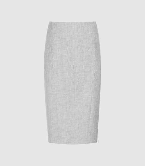 Reiss Thea - Tailored Grey, Womens, Size 4 Skirt
