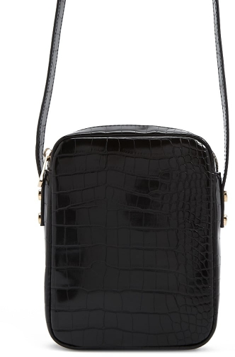 Forever21 Forever 21 Faux Croc Leather , Black Crossbody Bag