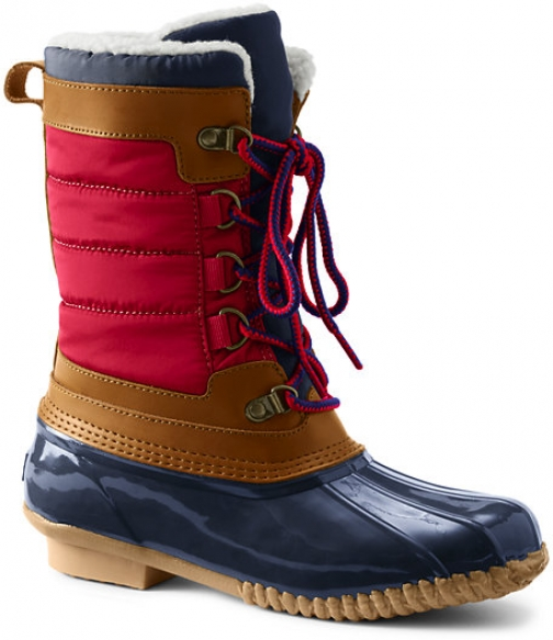 Lands' End Women's Insulated Winter Snow Duck - Lands' End - Red - 6 Boot