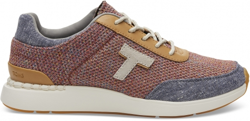 Toms Multi Space Dye Knit And Chambray Women's Arroyo Sneakers Shoes Trainer
