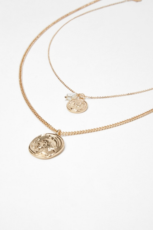 Forever21 Forever 21 Coin Pendant Necklace Set , Gold Jewellery