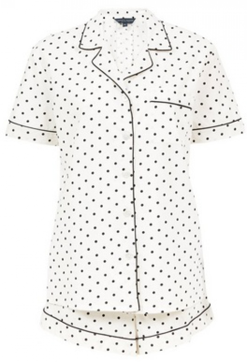 Dorothy Perkins Tall White Polka Dot Print Set Pyjama