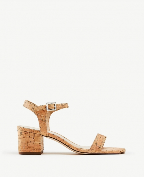 Ann Taylor Kennedy Cork Heeled Sandals