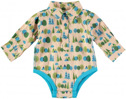House Of Fraser Rockin' Baby Boys Forest Print Woven Onesie