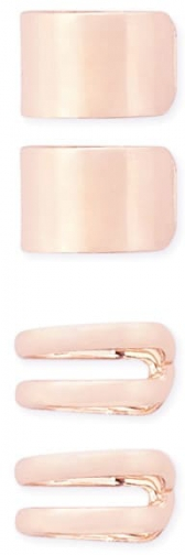 Forever21 Forever 21 Assorted Ear Set , Rose Gold Cuff
