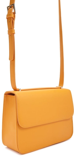 Forever21 Forever 21 Faux Leather Mustard Crossbody Bag