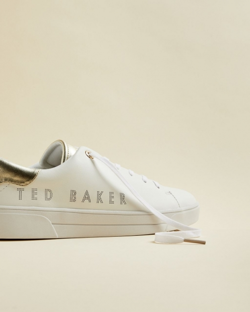 Ted Baker Leather Branded Trainer