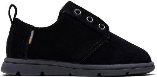 Toms Black Suede Tiny TOMS Ivan Dress Casuals Shoes