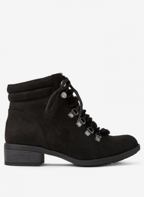 Dorothy Perkins Womens Wide Fit Black 'Abbie' Lace Up - Black, Black Boot
