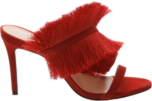 Schutz Shoes Cathy Sandal - 8 Club Red Suede Sandals